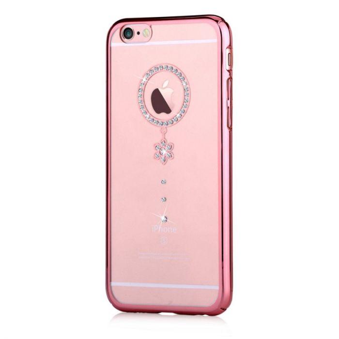 Carcasa iPhone 6/6S Comma Crystal Camelia Rose White Diamond (Cristale Swarovski�, electroplacat, pr
