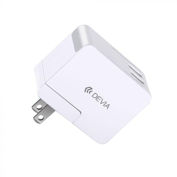Incarcator Retea 2.5A Devia Travel Kit Dual USB (adaptor pentru priza UK, US, AU si EU )