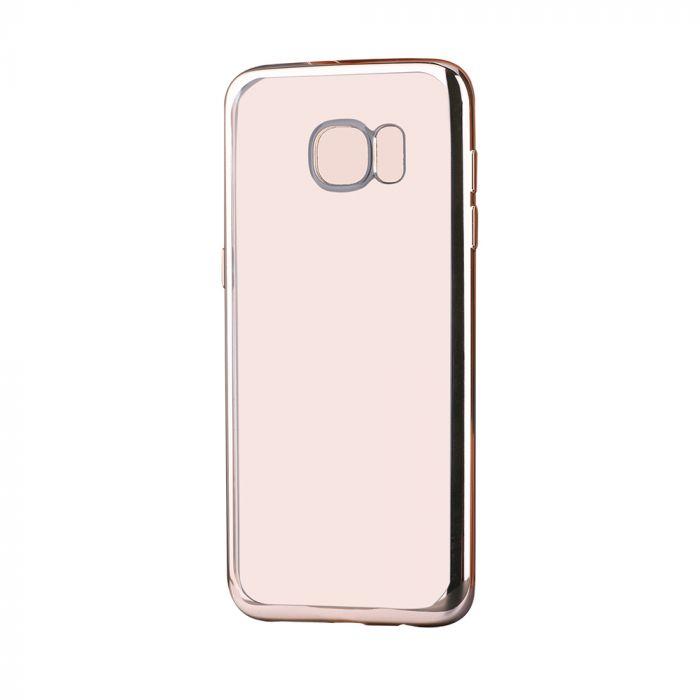 Husa Samsung Galaxy S7 G930 Devia Silicon Glitter Soft Champagne Gold (margini electroplacate)