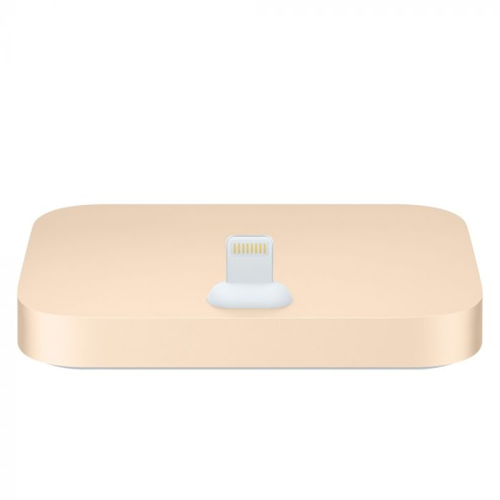 Suport Tip Dock Lightning Apple Auriu (incarcare, jack 3.5 mm)