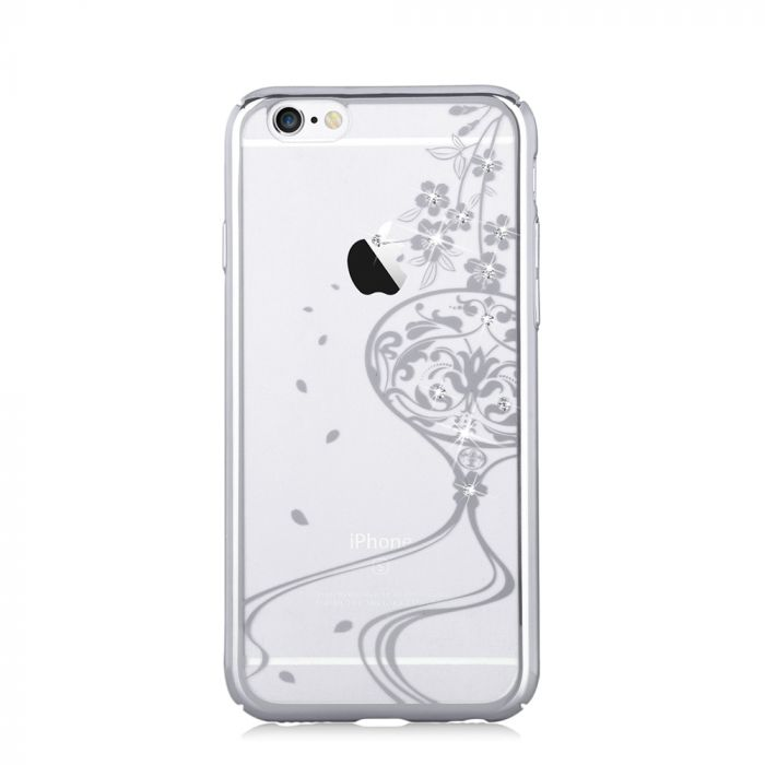 Carcasa iPhone 6/6S Devia Crystal Secret Garden Crystal Secret Garden Silver (Cristale Swarovski�, e
