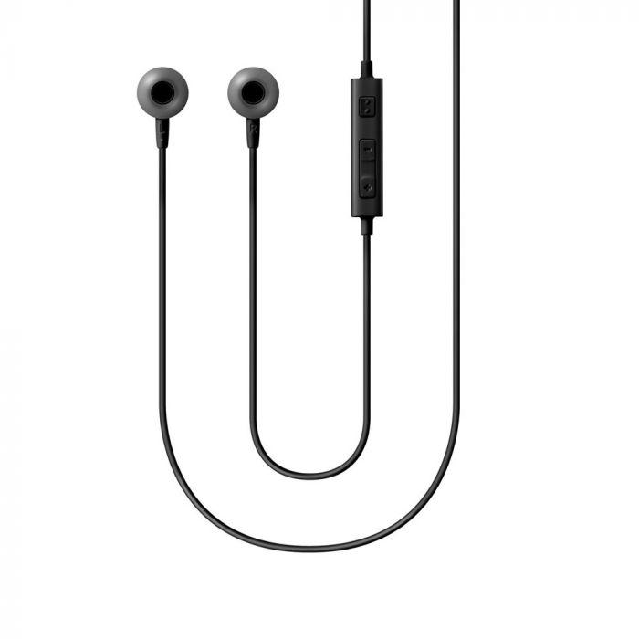 Handsfree stereo Jack 3.5 mm Samsung Negru (cablu 1.2m, microfon)