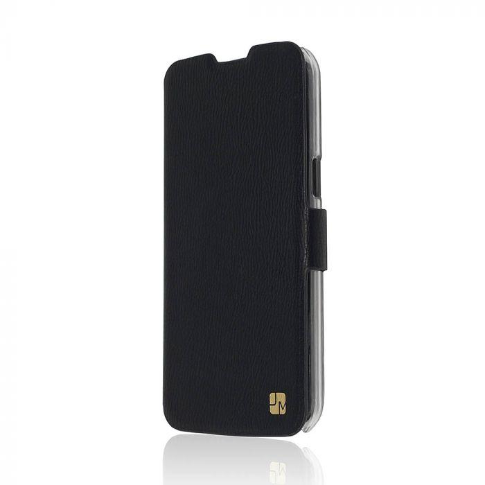 Husa LG K4 Just Must Book Slim Negru (silicon in interior)