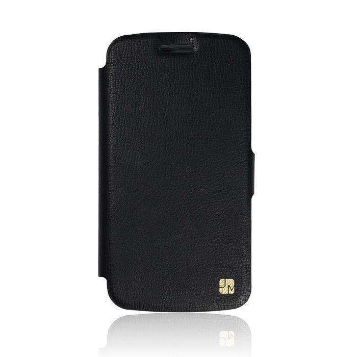 Husa Samsung Galaxy J1 (2016) Just Must Book Slim Negru (silicon in interior)
