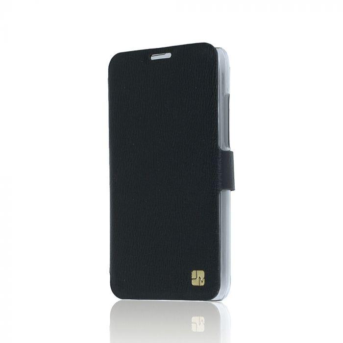 Husa Huawei Ascend Y360 / Y3 Just Must Book Slim Negru (silicon in interior)