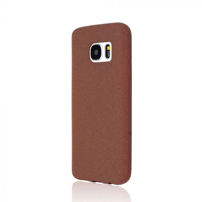 Husa Samsung Galaxy S7 G930 Just Must Silicon Sand Brown (flexibil)