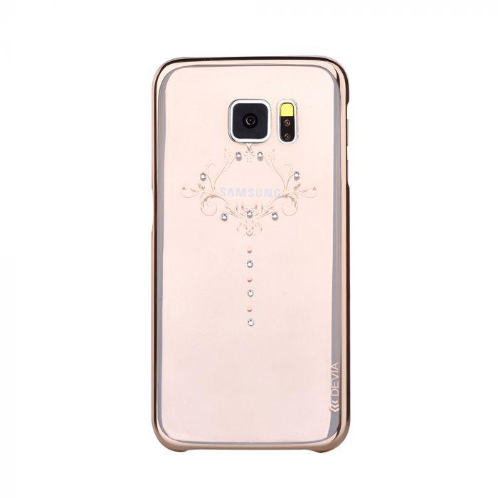 Husa Samsung Galaxy S7 Edge G935 Devia Silicon Iris Champagne Gold (Cristale Swarovski�)