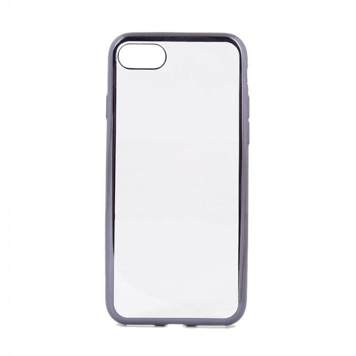 Husa iPhone SE 2 / 8 / 7 Devia Silicon Glitter Soft Gun Black (margini electroplacate)