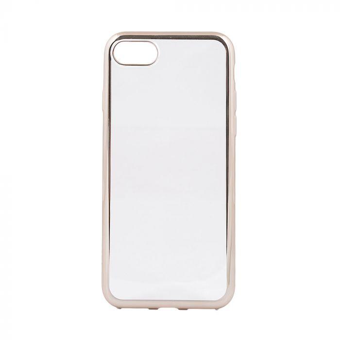 Husa iPhone 8 / 7 Devia Silicon Glitter Soft Champagne Gold (margini electroplacate)