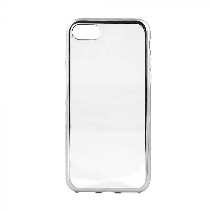 Husa iPhone 8 / 7 Devia Silicon Glitter Soft Silver (margini electroplacate)