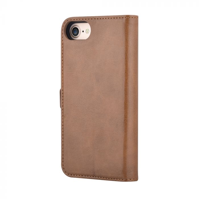 Husa iPhone SE 2020 / 8 / 7 Devia Magic 2 in 1 Brown (piele book cu carcasa magnetica detasabila)
