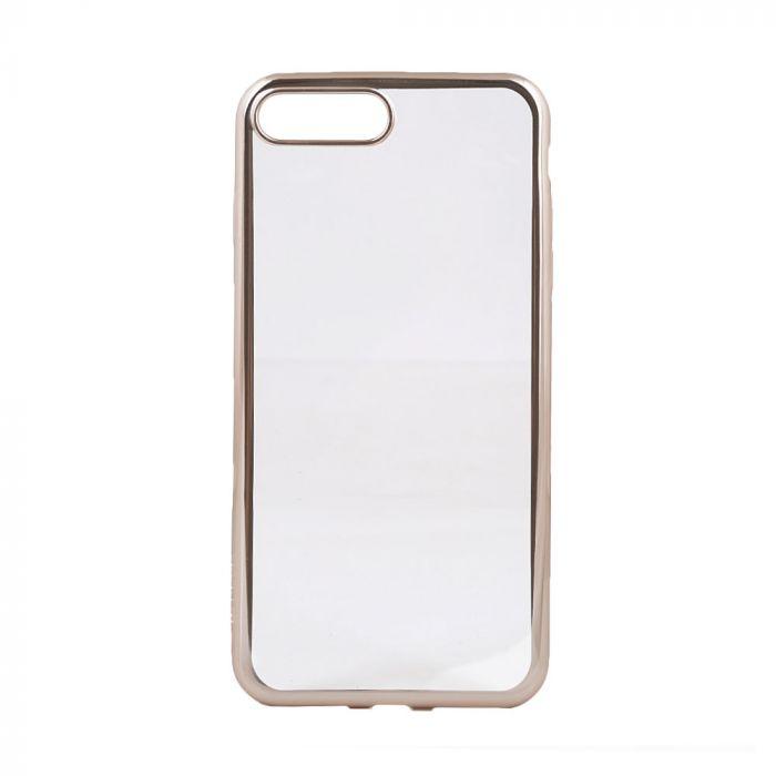 Husa iPhone 8 Plus / 7 Plus Devia Silicon Glitter Soft Champagne Gold (margini electroplacate)