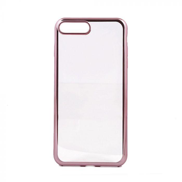 Husa iPhone 8 Plus / 7 Plus Devia Silicon Glitter Soft Rose Gold (margini electroplacate)