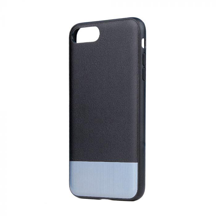 Carcasa iPhone 8 Plus / 7 Plus Devia Commander Black (piele naturala, margini flexibile)