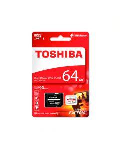 Card Memorie Toshiba Exceria MicroSDHC 64 GB Clasa 10 + Adaptor SD (90MB/s)
