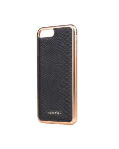 Carcasa iPhone 7 Plus Occa Wild Black (piele naturala)