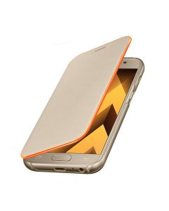 Husa Samsung Galaxy A3 (2017) Samsung Neon Flip Cover Gold