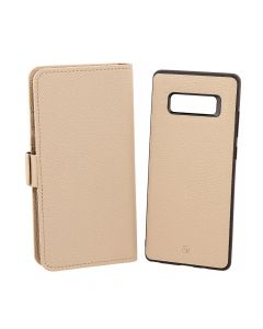 Husa Samsung Galaxy Note 8 Just Must Book Car Wallet Beige (carcasa interior detasabila)