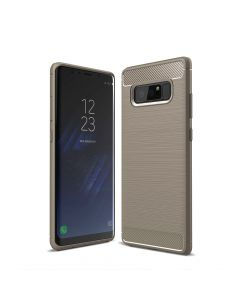 Carcasa Samsung Galaxy Note 8 Just Must Armour Soft Gray (antishock si flexibil)