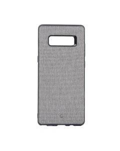 Carcasa Samsung Galaxy Note 8 Occa Linen Car Gray (margini flexibile, material textil, placuta metal