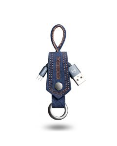 Cablu MicroUSB Mcdodo Denim Key-Chain Blue (0.15m, 2A, breloc)
