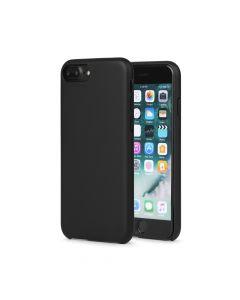 Carcasa iPhone 8 Plus Meleovo Pure Gear II Black (culoare mata fina, interior piele intoarsa)