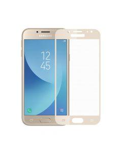 Folie Samsung Galaxy J5 (2017) Meleovo Sticla Full Cover Gold