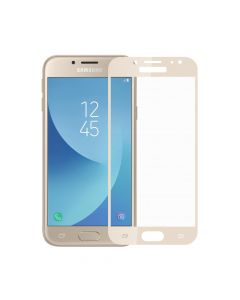 Folie Samsung Galaxy J7 (2017) Meleovo Sticla Full Cover Gold