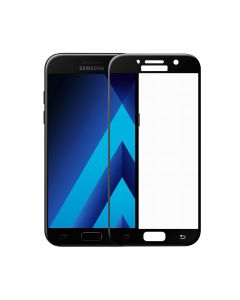 Folie Samsung Galaxy A5 (2017) Meleovo Sticla 3D Defense Curved Black (3D, 9H, oleophobic)