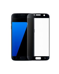 Folie Samsung Galaxy S7 G930 Meleovo Sticla 3D Defense Curved Black (3D, 9H, oleophobic)