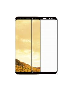 Folie Samsung Galaxy S8 Plus G955 Meleovo Sticla 3D Defense Curved Black (3D, 9H, oleophobic)
