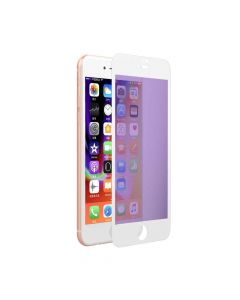 Folie iPhone 8 Plus / 7 Plus Devia Sticla Eagle Eye 2 Anti-BlueRay White (0.18mm, 9H, folie spate in