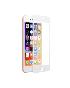 Folie iPhone 8 Plus / 7 Plus Devia Sticla Van Full White (0.26mm, 9H, folie spate inclusa)
