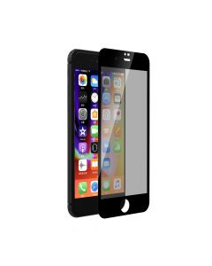Folie iPhone 8 / 7 Devia Sticla Privacy Full Black (0.26mm, 9H)