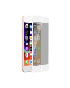 Folie iPhone 8 / 7 Devia Sticla Privacy Full White (0.26mm, 9H)