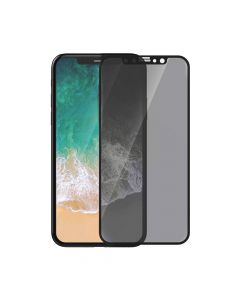Folie iPhone X / XS Devia Sticla Van Privacy Full Black (0.26mm, 9H)
