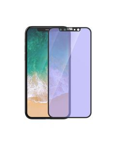 Folie iPhone X / XS Devia Sticla Van Anti-BlueRay Full Black (0.26mm, 9H)