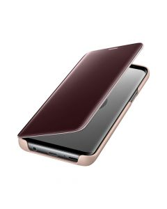 Husa Samsung Galaxy S9 G960 Samsung Book Clear View Standing Gold