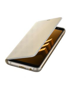 Husa Samsung Galaxy A8 (2018) Samsung Neon Flip Cover Gold