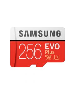 Card Memorie Samsung Evo Plus MicroSDXC 256 GB Clasa 10 UHS-I + Adaptor SD (100MB/s)