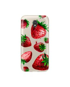 Husa Samsung Galaxy J5 (2017) Lemontti Silicon Art Strawberries