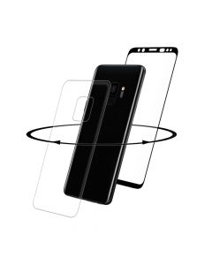 Folie Samsung Galaxy S9 G960 Eiger Sticla 3D 360� Clear Black