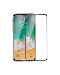 Folie iPhone X Baseus Sticla All-Screen Arc-Surface Black (0.2mm, 9H)