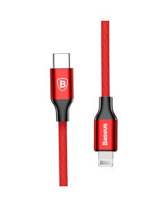 Cablu Type-C la Lightning Baseus Yiven Red (2m, max 2A, impletitura textila)