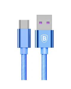 Cablu Type-C Baseus Speed QC USB Blue (1m, output 5A, impletitura textila)