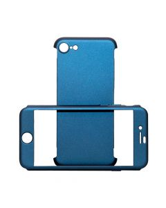 Carcasa iPhone 8 / 7 Just Must Defense 360 Navy (3 piese: protectie spate, protectie fata, folie sti