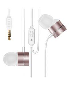 Casti Jack 3.5mm Baseus Encok H04 Rose Gold (in-ear)