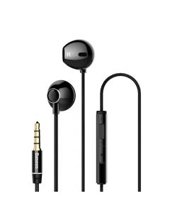 Casti Jack 3.5mm Baseus Encok H06 Black (in-ear)
