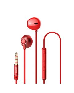 Casti Jack 3.5mm Baseus Encok H06 Red (in-ear)