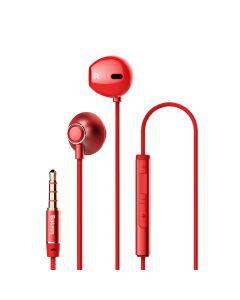 Casti Jack 3.5mm Baseus Encok H06 Red (in-ear)